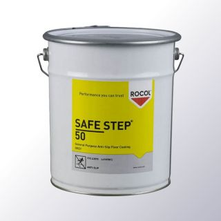 SAFE STEP 50 ist eine rutschfeste Bodenbeschichtung und wird als Fertigpackung angeboten.