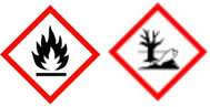 Gefahrenpiktogramme:  GHS02: Flamme GHS09: Umwelt
